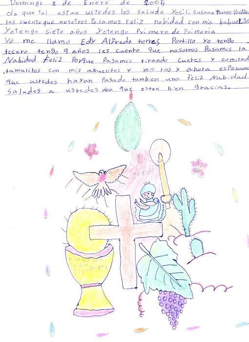 letterina di Edi Alfredo Torres Portillo ai suoi padrini italiani